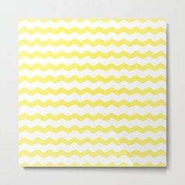 Yellow zigzag pattern Metal Print