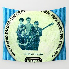 Central Park talking heads 1979 Wall Tapestry