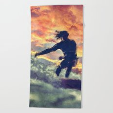 Surfing Beach Towel