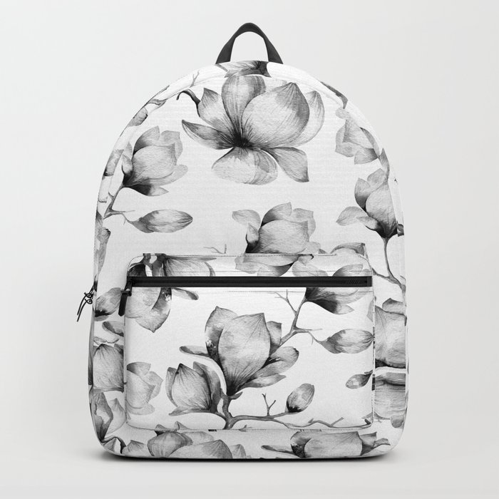 Flower pattern (black and white) Backpack
