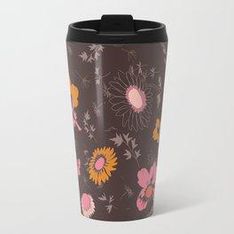 large flowers Travel Mug