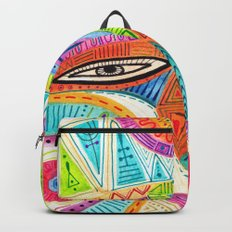 let's fly and reach the sky mask Backpack
