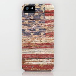 New Americana Rustic Flag Country Home Decor Patriotic Art A643 iPhone Case