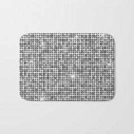 Shiny Disco Ball Silver Bath Mat