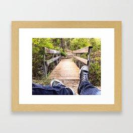 Crossing Shady Creek Framed Art Print