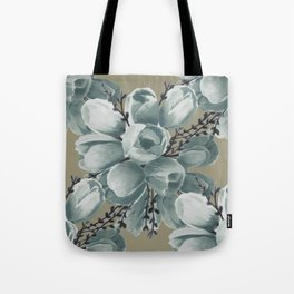 Spring Tulips Neutral  Tote Bag