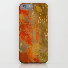 Ginkgo Leaves on Rust Background Slim Case iPhone 6s