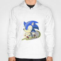 sonic Hoodies featuring Sonic by Rod Perich
