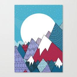 Blue Sky Mountains Canvas Print