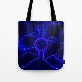 Blue Lightnings Tote Bag