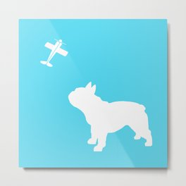 French Bull dog art Metal Print