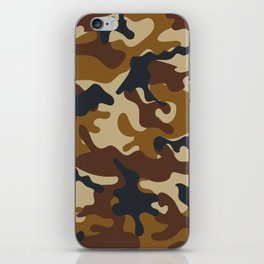 Brown Army Camo Camouflage Pattern iPhone Skin