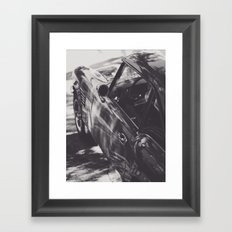Fine art print, classic car, triumph, spitfire, b&w photo, still life, interior design, old car Framed Art Print