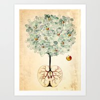 tree of life Art Prints featuring Life Tree by Paula Belle Flores