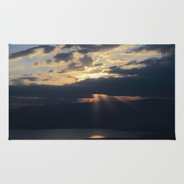 Sunrise over the Dead Sea Rug