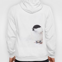 Cute Willow Tit sitting in the snow #decor #buyart #society6 Hoody