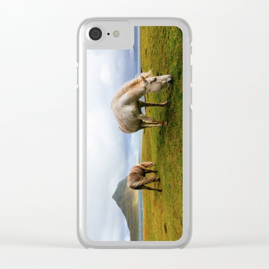 Horses 5 Clear iPhone Case