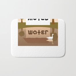 MOTEL WATER ambigram Bath Mat