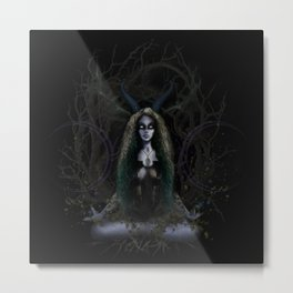 Earth Witch - Elements Collection Metal Print