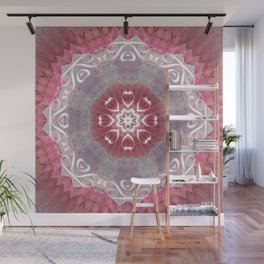 "Pastel Hidden ""Text"" Mandala Wall Mural"