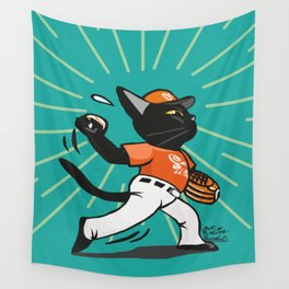 Baseball pitcher Wall Tapestry