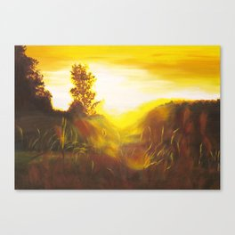 Dancing Sunset Canvas Print