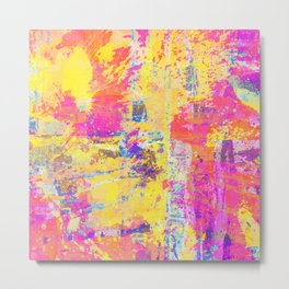 Always Look On The Bright Side - Abstract, textured painting Metal Print
