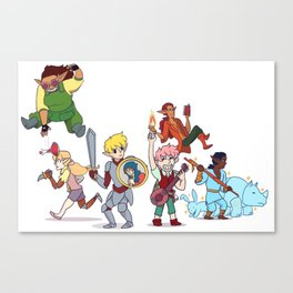 Ooze Dungeon Party Canvas Print