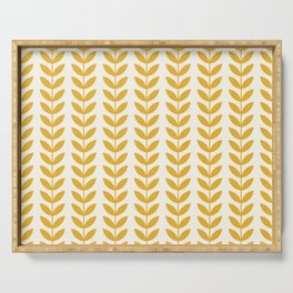 Scandinavian Mid Century Pattern Yellow Serving Tray