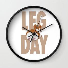 Leg Day Doggie Wall Clock