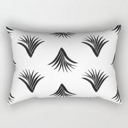 Pandanus Leaf Pattern - Black Rectangular Pillow