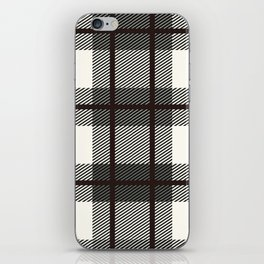 Plaid White And Brown Lumberjack Flannel iPhone Skin