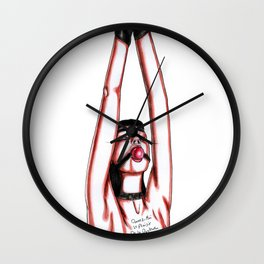 Give me the pleasure of pain Wall Clock