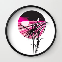 Stripes In The Night Wall Clock