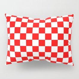 Jumbo Australian Racing Flag Red and White Checked Checkerboard Pattern Pillow Sham