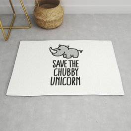 Save the chubby unicorn Rug