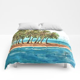 Private Island Painting Comforters
