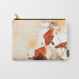 Red Poppy #floral #watercolor Carry-All Pouch