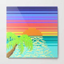 Pixel Beach Metal Print