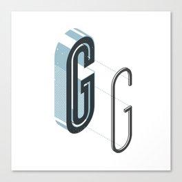 The Exploded Alphabet / G Canvas Print