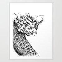 smaug Art Prints featuring Smaug by LegendOfZeldy