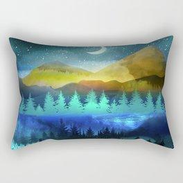 Silent Forest Night Rectangular Pillow