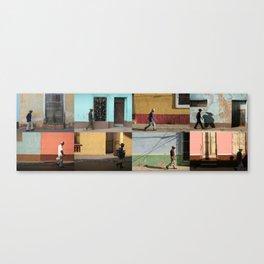 Cuba Men Walking  - Horizontal Canvas Print