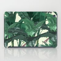 banana leaf iPad Cases featuring Banana Leaf Pattern 2 by Tamsin Lucie