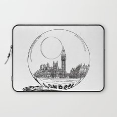 London in a glass ball Laptop Sleeve