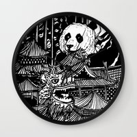 china Wall Clocks featuring China by Matt Ferguson
