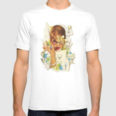 Blaise | Collage White MEDIUM Mens Fitted Tee
