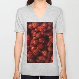 Wild Strawberries Unisex V-Neck