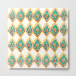 The Chevron Flame Metal Print
