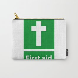 First Aid Cross - Christian Sign Illustration Carry-All Pouch